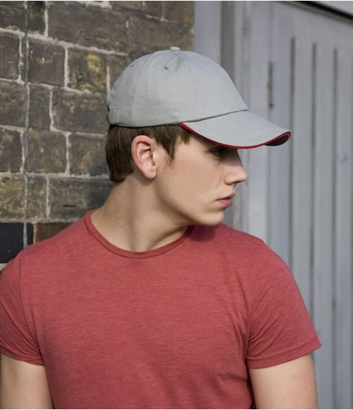 RC024P Result Low Profile Heavy Brushed Cotton Cap with Sandwich Peak