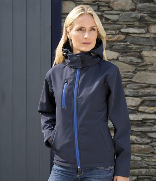 Result Core Ladies TX Performance Hooded Soft shell Jacket