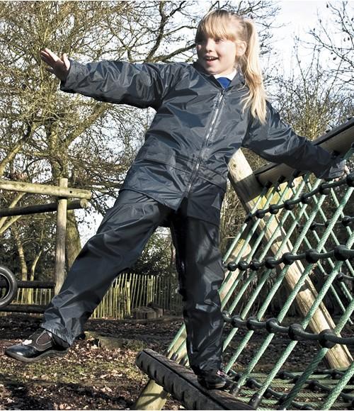 Result Kids Waterproof Jacket/Trouser Suit in Carry Bag
