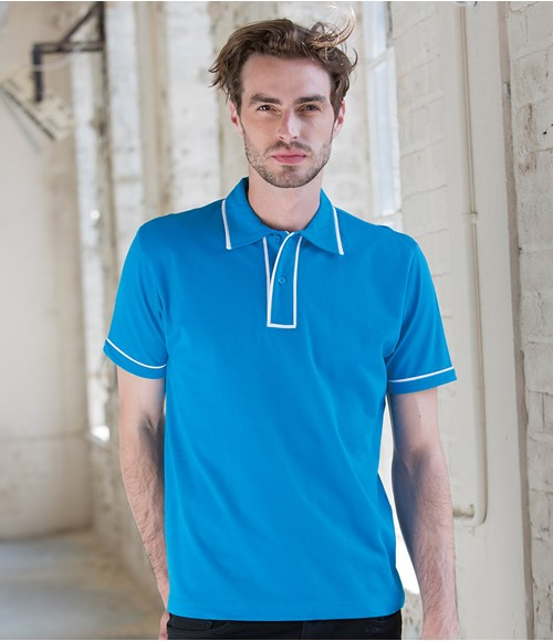 Skinnifitmen Contrast Piped Cotton Polo Shirt