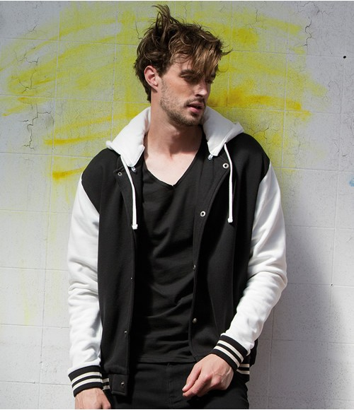 Skinnifitmen Detachable Hood Baseball Jacket