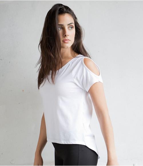 SkinniFit Ladies Drop Tail T-Shirt