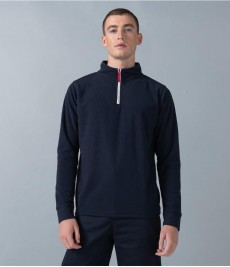 LV570 Finden and Hales Zip Neck Piped Micro Fleece
