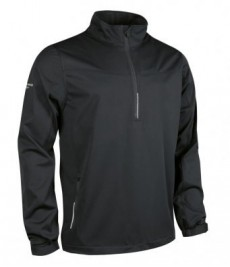 Glenmuir Aragon Zip Neck Soft Shell Windshirt-Black