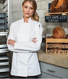 PR671 Premier Ladies Long Sleeve Chef's Jacket