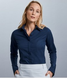 Russell Collection Ladies Ultimate Stretch Shirt-Ladies