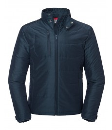 430M Russell Cross Padded Jacket-Navy Front