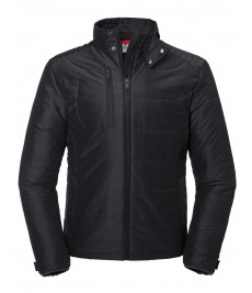 430M Russell Cross Padded Jacket-Black Front