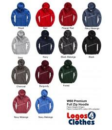W88 Premium Full Zip Hood Colours