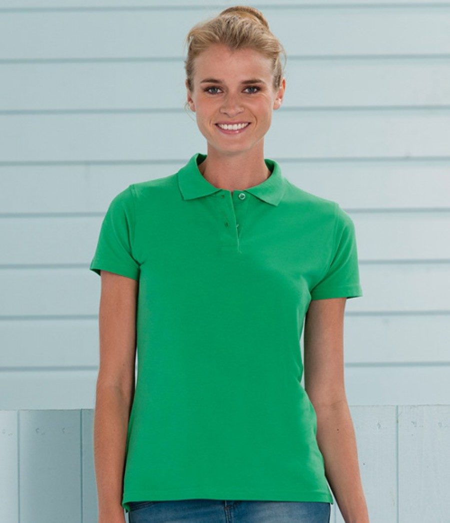 Jerzees ladies 100 cotton pique polo shirt 569f for Ladies pique polo shirts