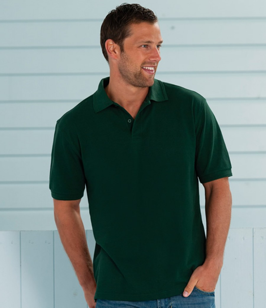 Jerzees Ripple Collar Cuff Polo Shirt 599m
