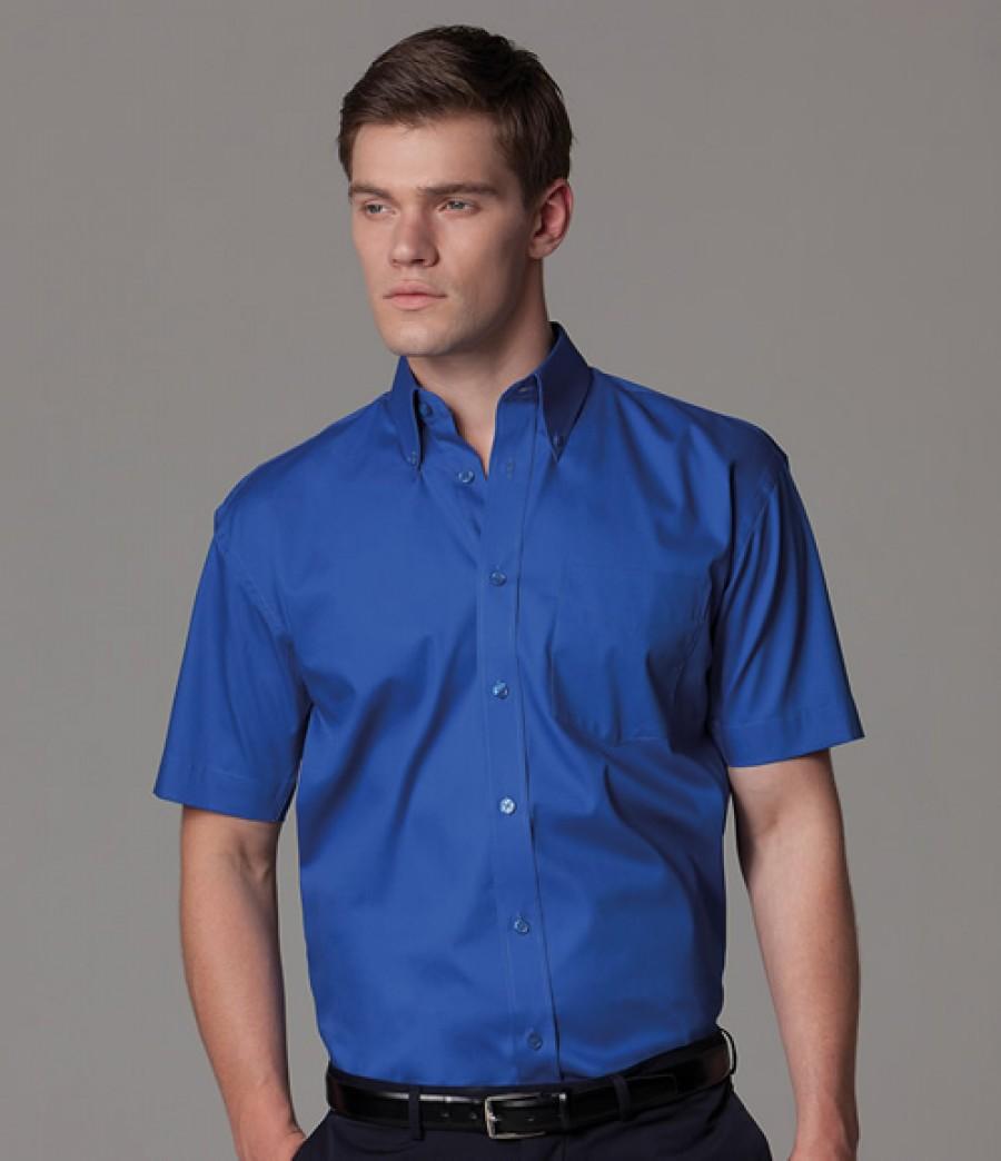 Kustom kit short sleeve corporate oxford shirt for T shirt printing oxford