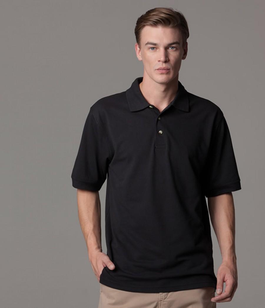 kustom kit chunky pique polo shirt. Black Bedroom Furniture Sets. Home Design Ideas