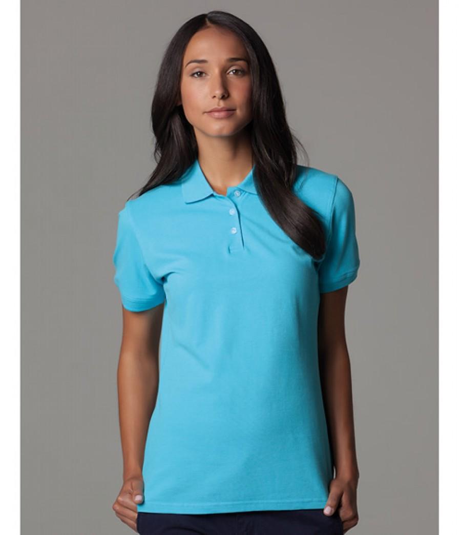 Kustom kit kate ladies cotton pique polo shirt for Ladies pique polo shirts