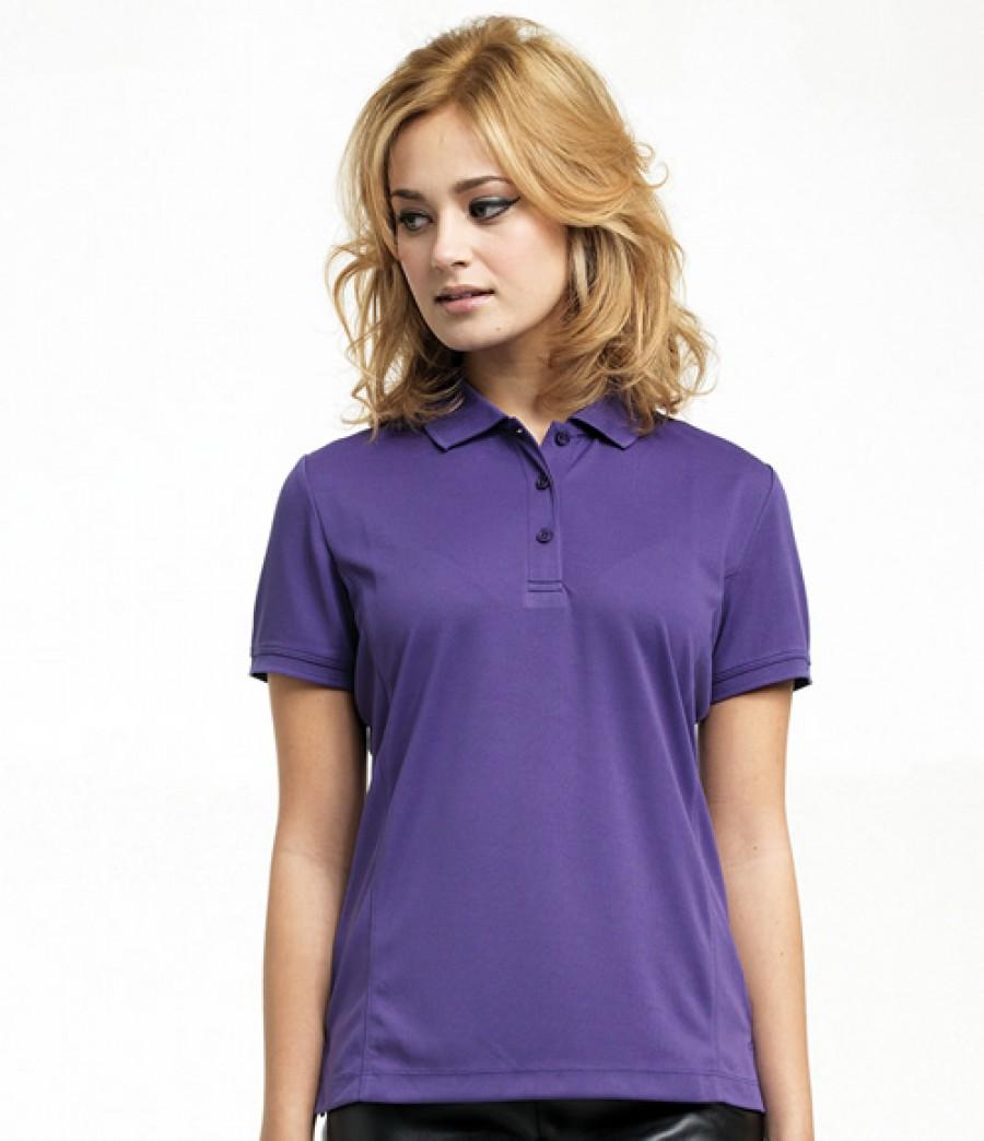 Premier ladies coolchecker pique polo shirt custom polo for Ladies pique polo shirts